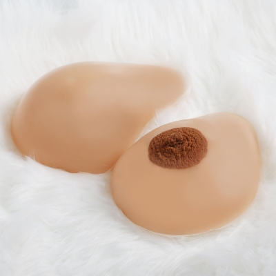 Silikon Brustwarzen - Echtabdruck -  braun
